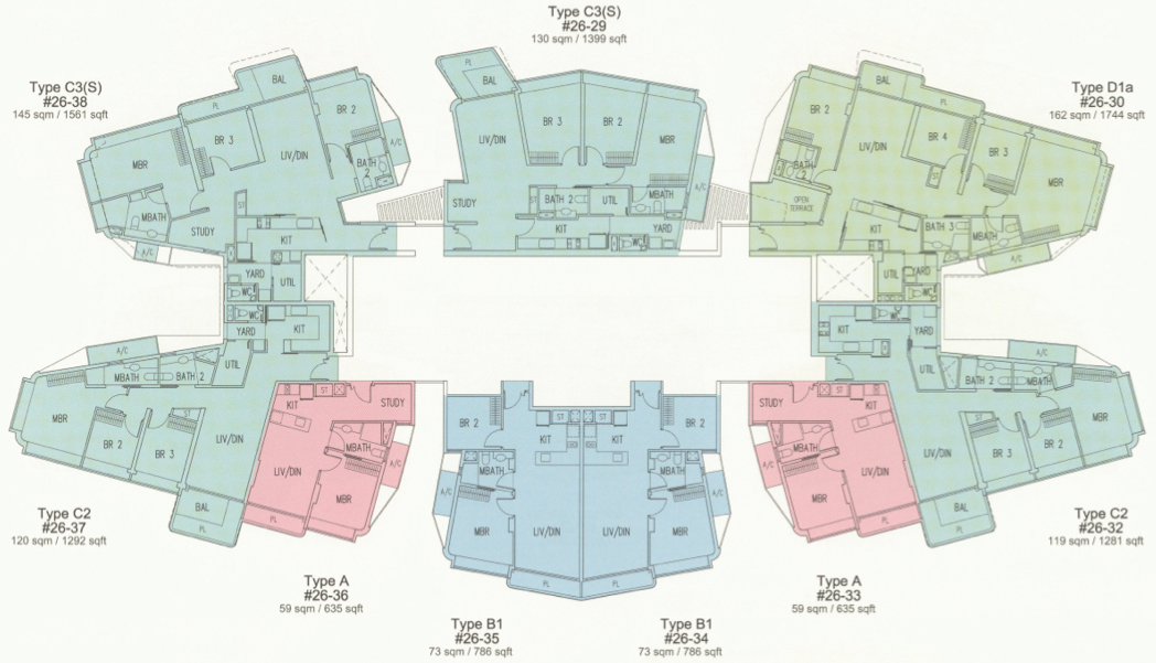 D'leedon Floor Plans